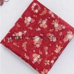 Ткань из коллекции Камеи с розами: Фон бордо