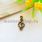 Винтажная подвеска Скрипичный ключ