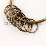 Кольцо для ключей (брелков) 20 мм. Бронза