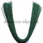 Проволока для цветов из капрона: 0,55 мм (№24). Зеленая - пласти
