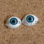 Глаза-рыбки для кукол и игрушек. Акрил Голубые 14 мм (пара)