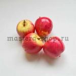 Декоративные яблочки. Розово-желтые. Диаметр 35 мм