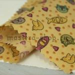 Ткань для печворка и рукоделия Котики и рыбки