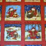Ткань для печворка и рукоделия Купон Снеговики