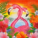 Салфетка Два фламинго