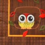 Салфетка Сова на коричневом