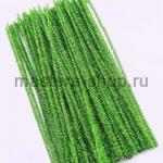 Блестящая проволока шенил (синель) Зеленая