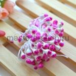 Тычинки большие Бело-малиновые (5 мм)