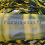 Капрон для цветов Темно зеленый+Желтый