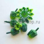Внутренние лепестки хризантемы Темно-зеленые