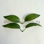 Листья лилии искусственные двойные темные