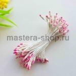 Тычинки двухцветные Розовый на белом