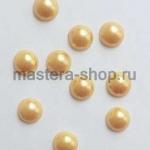 Полужемчужины 10 мм. 10 шт. Светлое золото