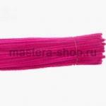 Пушистая проволока шенил (синель)  Розовая темная