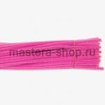 Пушистая проволока шенил (синель)  Розовая