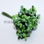 Бумажные цветочки. Шарики. Зеленые. 3 см