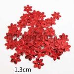 Пайетки цветок 13 мм шестилепестковый Красный - 120шт.