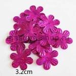 Пайетки цветок 32 мм голографик шестилепестковый Малиновый - 1ш