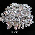 Пайетки круглые 6 мм голографик Серебро - 10 гр.