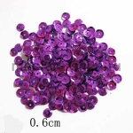 Пайетки круглые 6 мм Фиолетовые - 5 гр.