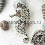Серебрянная подвеска Морской конек