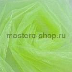 Органза флористическая Зеленая светлая