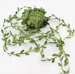 Тесьма Листья. Зеленая