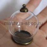 Стеклянный шар-кулон d=30 мм