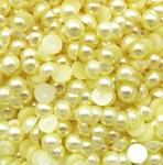 Полужемчужины 6 мм. 10 шт. Желтые светлые