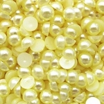 Полужемчужины 8 мм. 10 шт. Желтые светлые