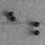 Бусины черные для глазок (носиков) 6 мм. 20 шт.