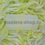 Капрон для цветов Бледный зеленовато-желтый+Белый