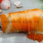 Капрон для цветов Оранжевый+Белый+Беж