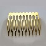 Основа для гребешка металл. 10 зубьев. Золото