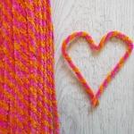 Проволока шенил (синель) двойная Розово-оранжевая