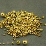 Бусина. Золото. 5 мм. 10 шт.