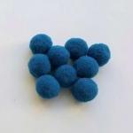 Помпоны 8-10 мм. Синие темные. 5 шт.