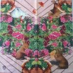 Салфетка Зайчики в цветах