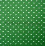 Фетр с сердечками. Зеленый