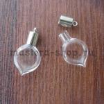 Бутылочка стеклянная Капля плоская
