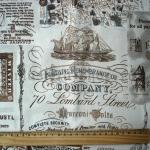 Ткань для печворка и рукоделия Винтажные карты