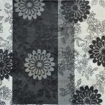Салфетка Черно-белые цветы