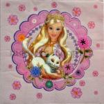 Салфетка Барби с котиком