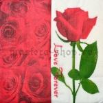 Салфетка Роза с фоном