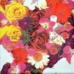 Салфетка Розы, ромашки, орхидеи
