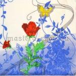 Салфетка Тюльпан с бабочкой