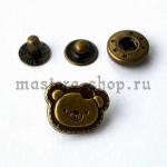 Декоративная застежка-кнопка Мишка