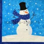 Салфетка Снеговик в шарфе