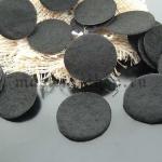 Задники для искусственных цветов 2 см. Черные. 20 шт.