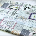 Ткань для печворка и рукоделия Газета Parfum